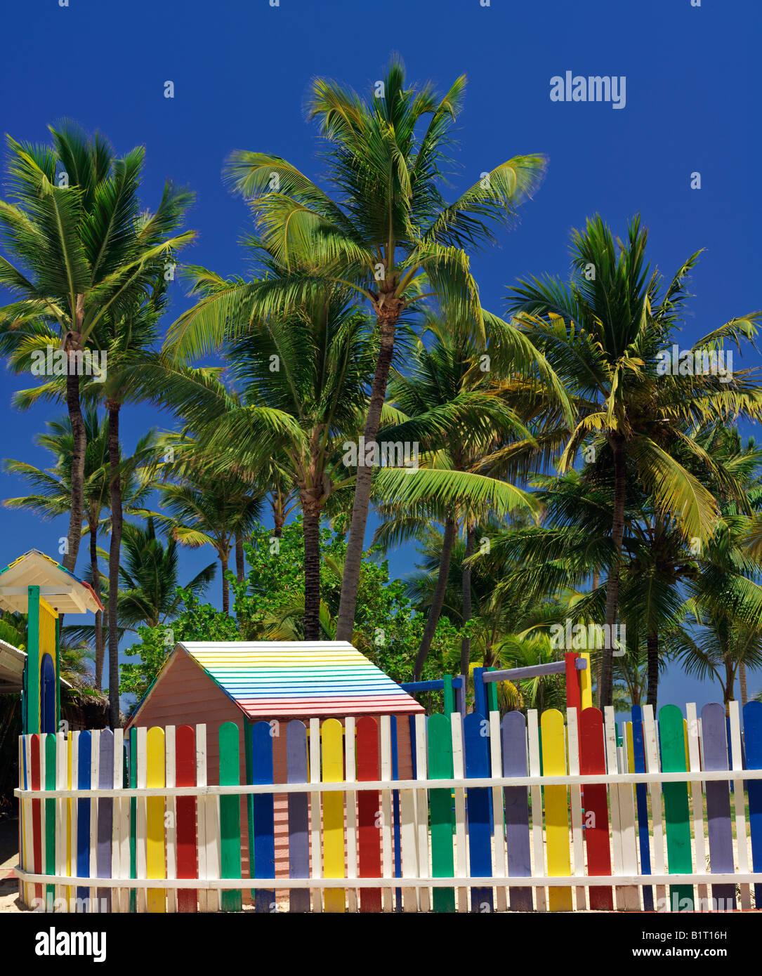 Dominican Republic Punta Cana Bavaro Beach multi colored picket ...