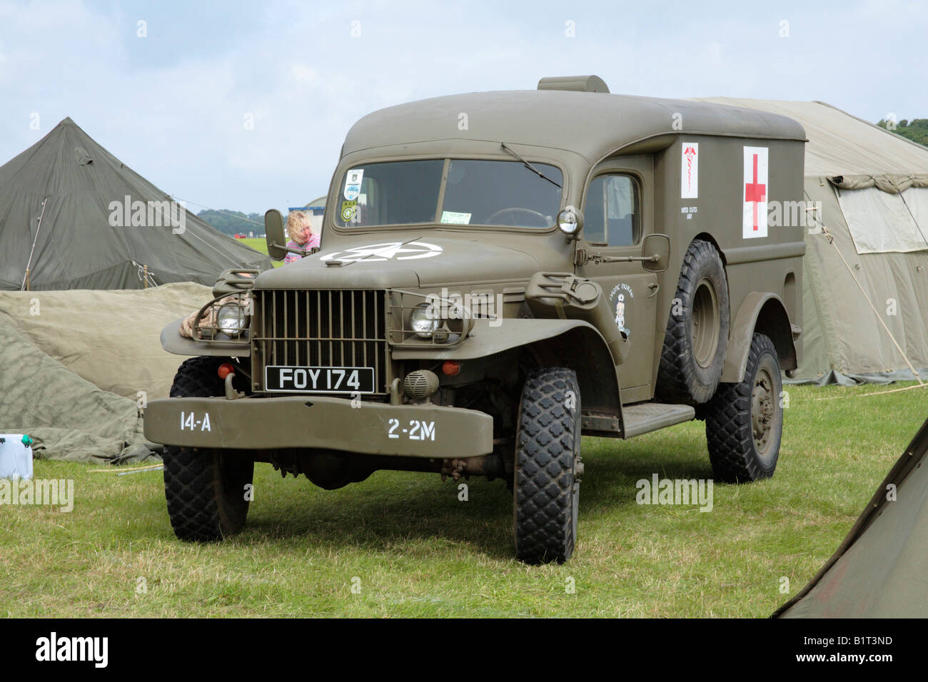 Dodge wc54 wwii 4x4 army military ambulance stock image