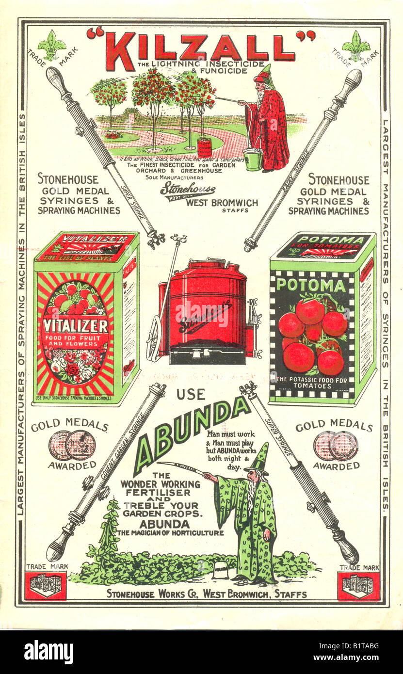 Advertising Insert For kilzall Garden Insecticide And Fungicide