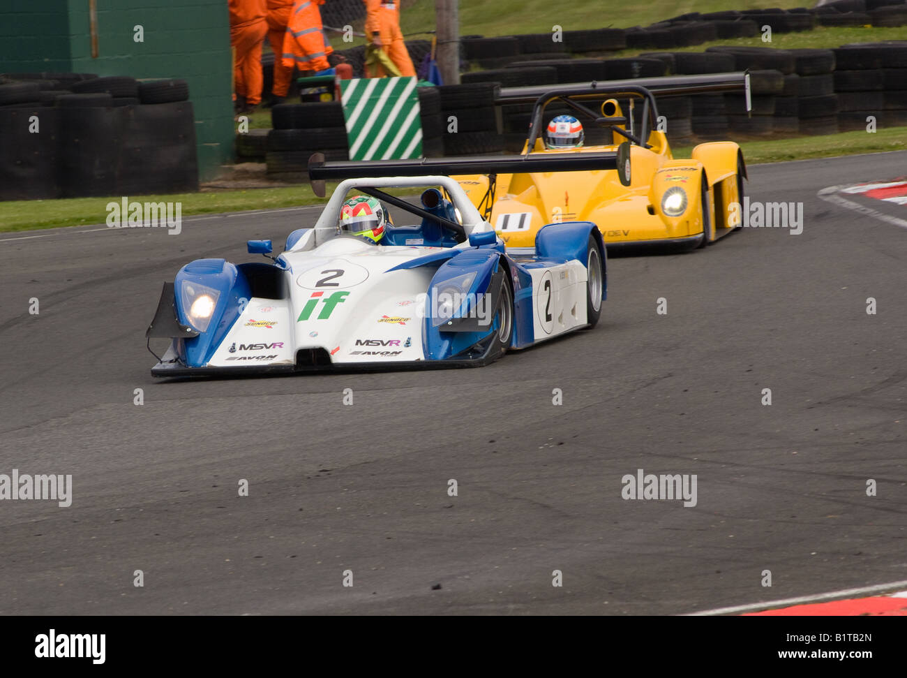 V De V Uk Ligier And Pilbeam Race Cars In Brittens Corner At
