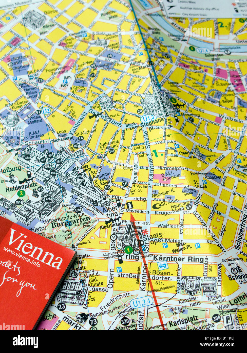 Map Of Vienna Photos and Map Of Vienna Images Alamy – Tourist Map Of Vienna Austria