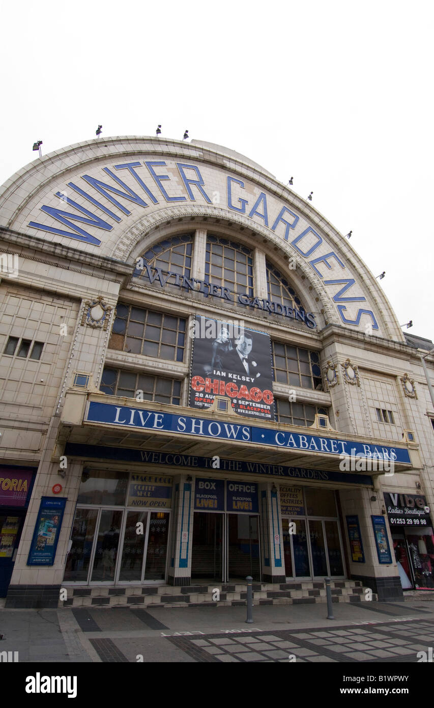 winter gardens entrance blackpool lancashire stock photos u0026 winter