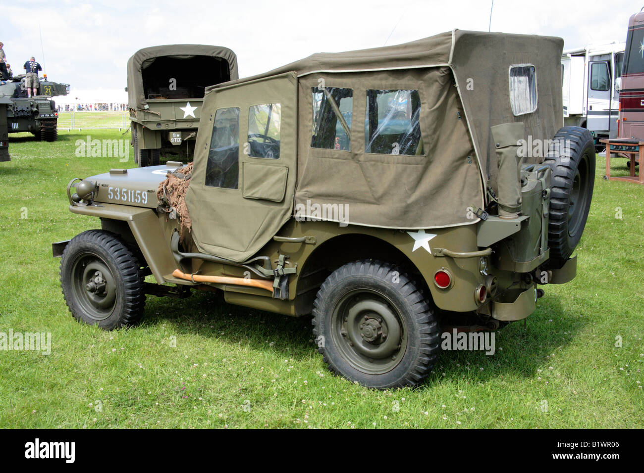 American wwii jeep 4x4 light military vehicle stock image