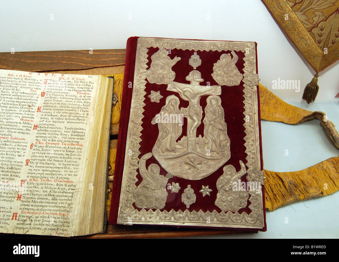 The bible with decorated binding in paleokastritsa for Decorated bible