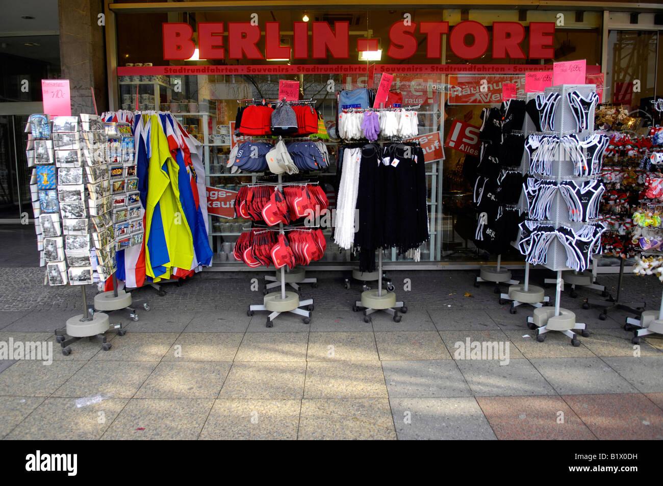 berlin store souvenir germany deutschland shop consumerism stock photo royalty free image. Black Bedroom Furniture Sets. Home Design Ideas