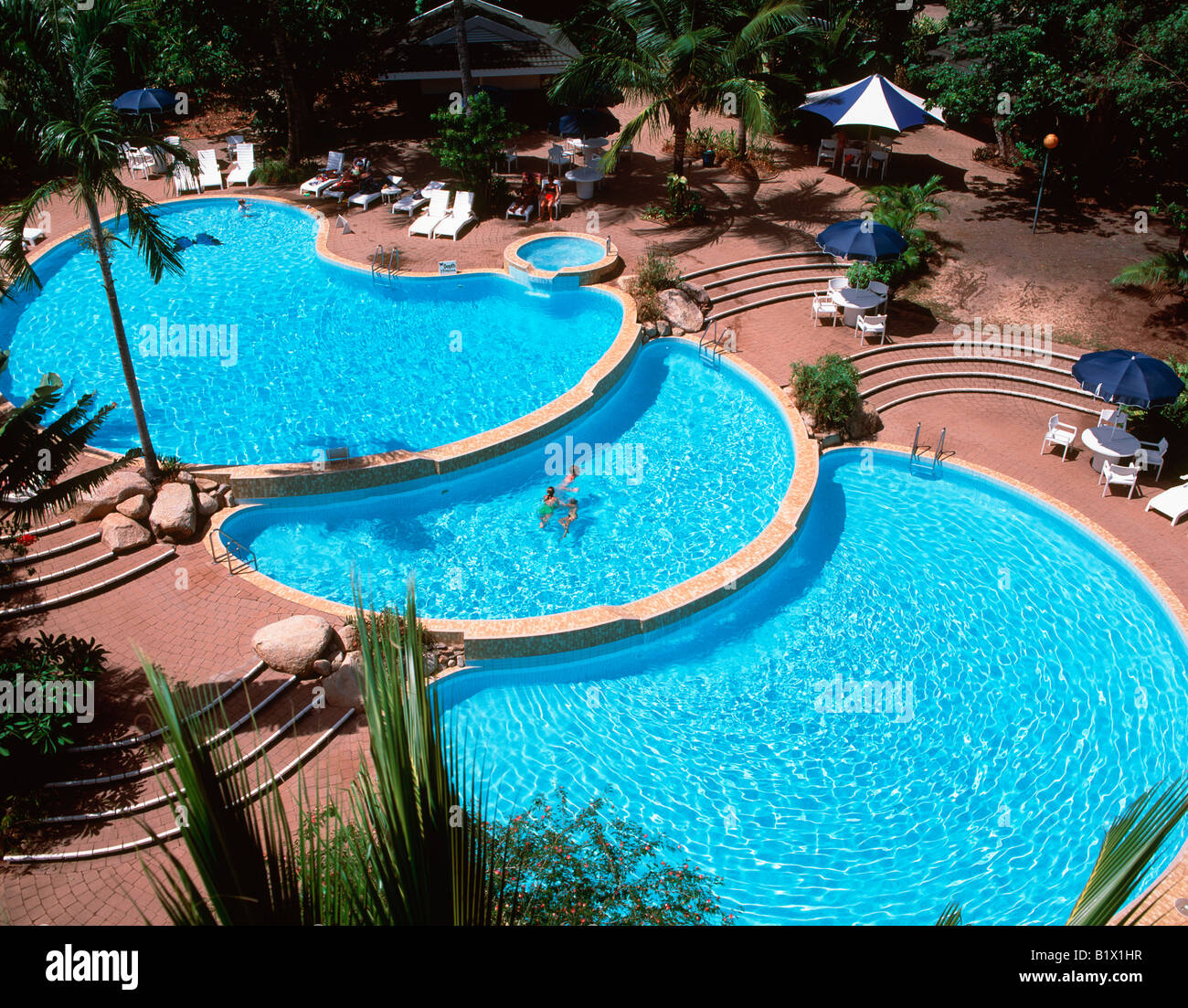 Cascade swimming pool dunk island resort queensland australia stock photo 18397059 alamy for Block island resorts swimming pool