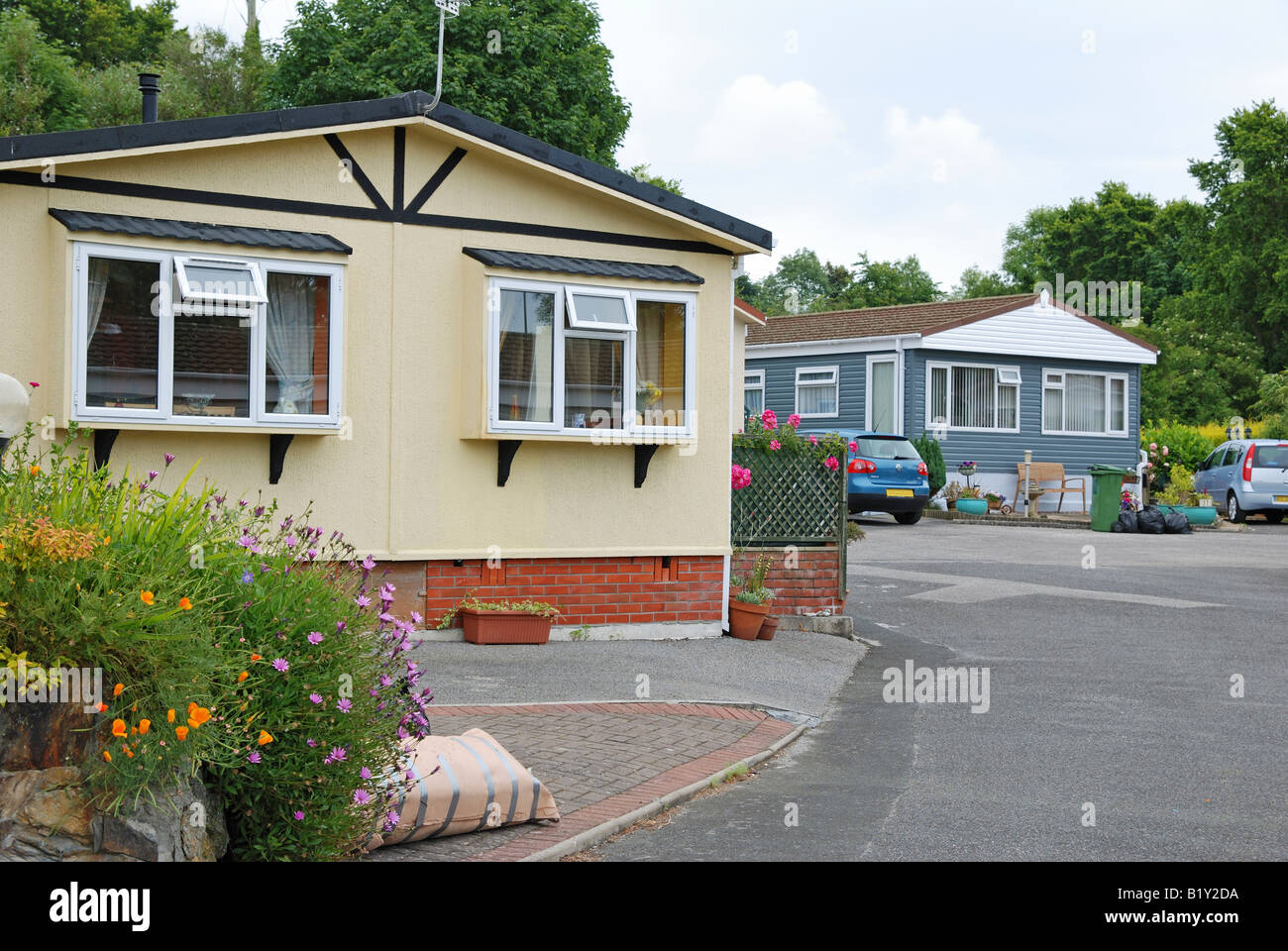 A Mobile Hometrailer Park Near Redruth In Cornwallengland Stock