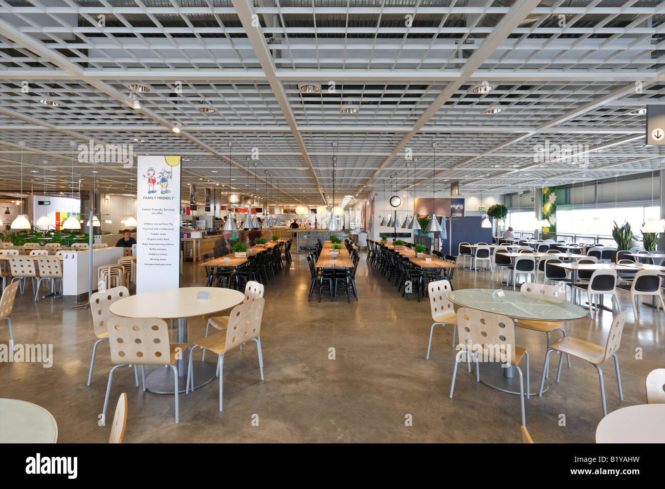 Restaurant at the ikea furniture store in coventry stock