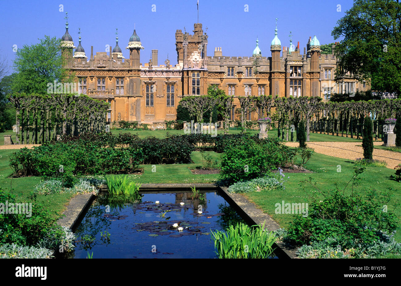 Knebworth House Hertfordshire English stately home lake ...