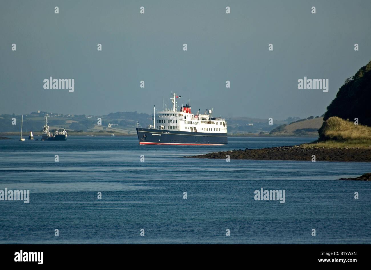 Luxury Cruise Ship MV Hebridean Princess Leaving Strangford Lough - Cruise ship ireland