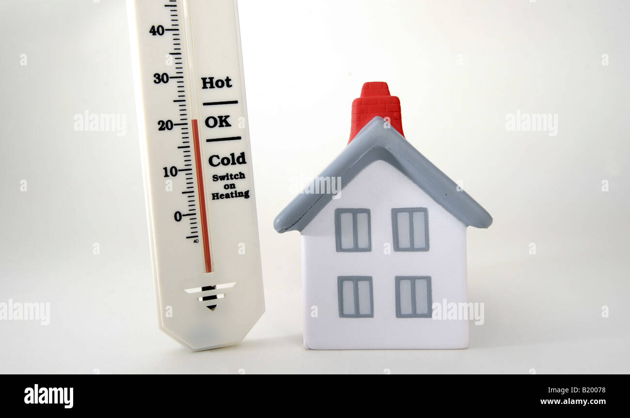 HOUSE WITH THERMOMETER SHOWING 20 DEGREES CELCIUS,ROOM Stock Photo ...