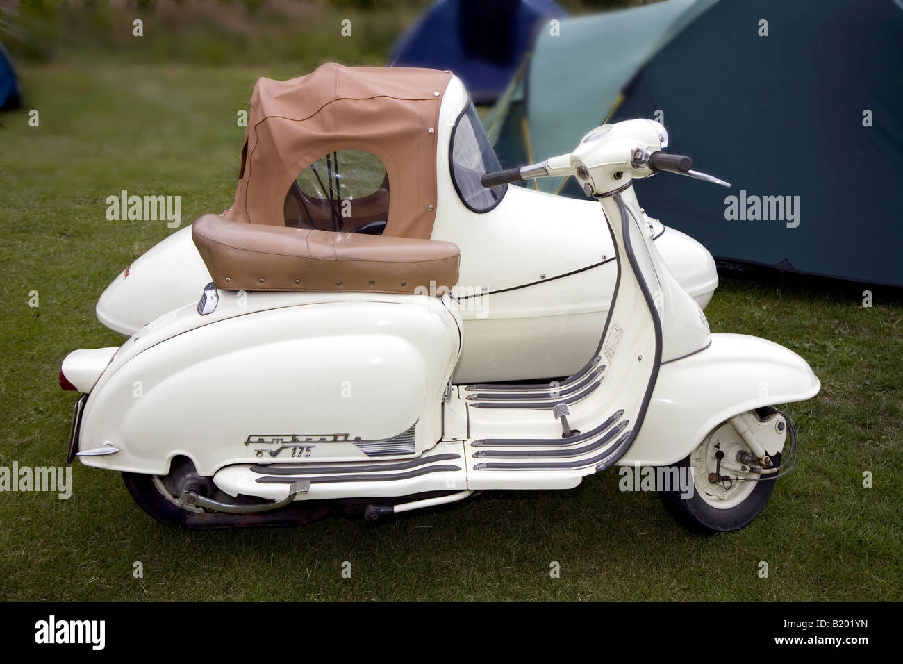 Motor Scooter And Sidecar Stock Photo Royalty Free Image
