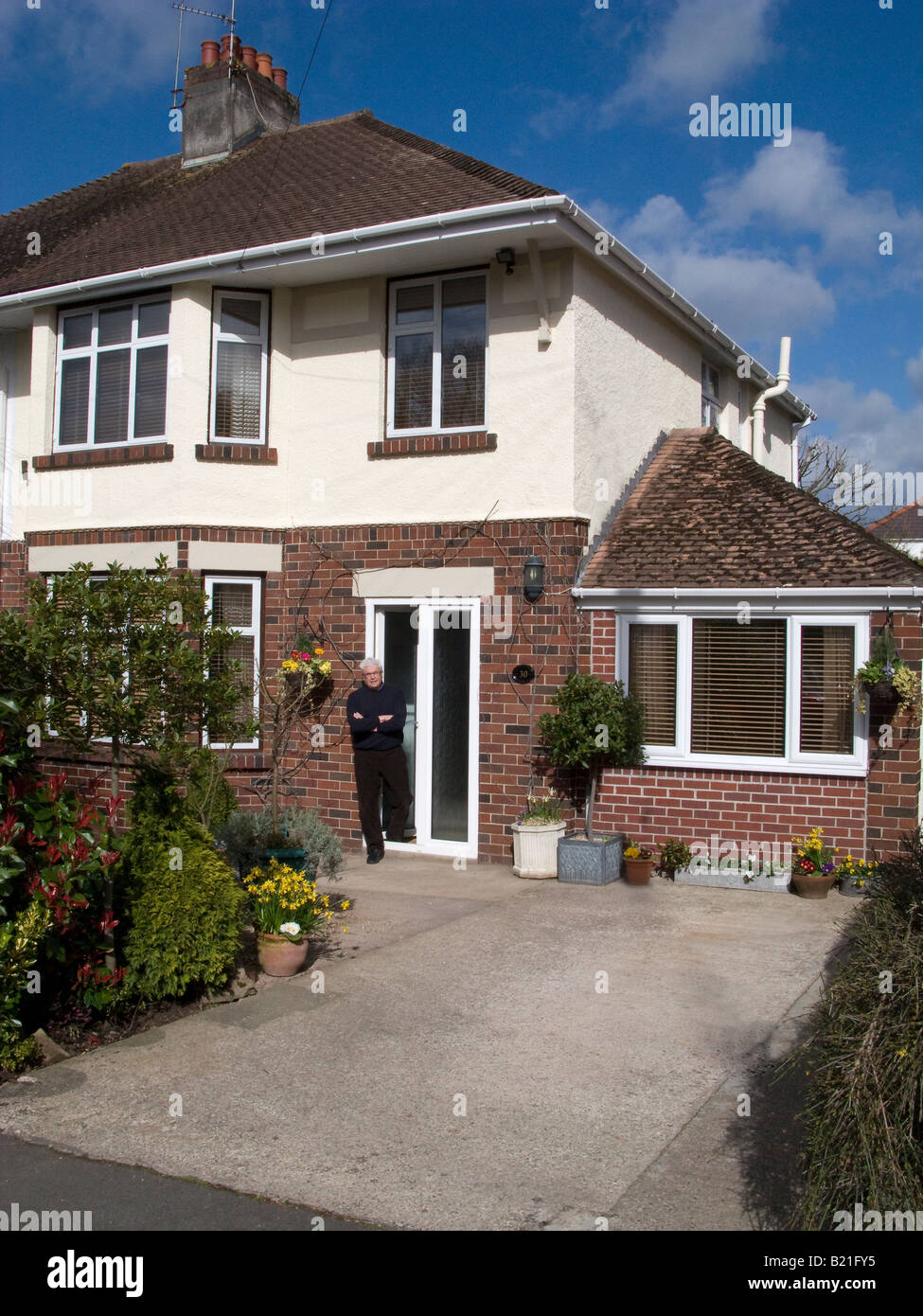 Suburban semi detached house with converted garage and for Redesigning the front of your house