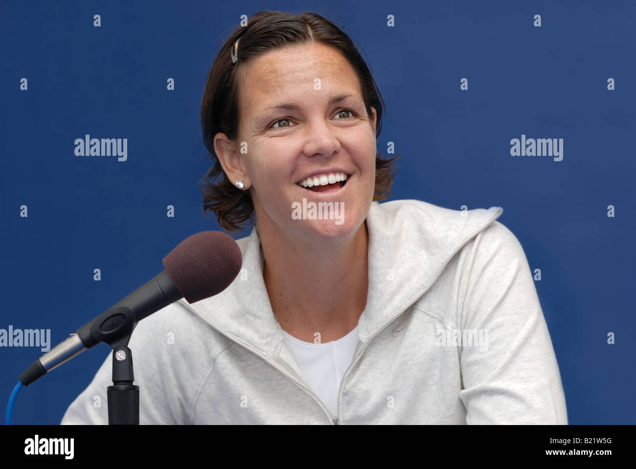 Lindsay Davenport Professional Womens Tennis Champion Stock