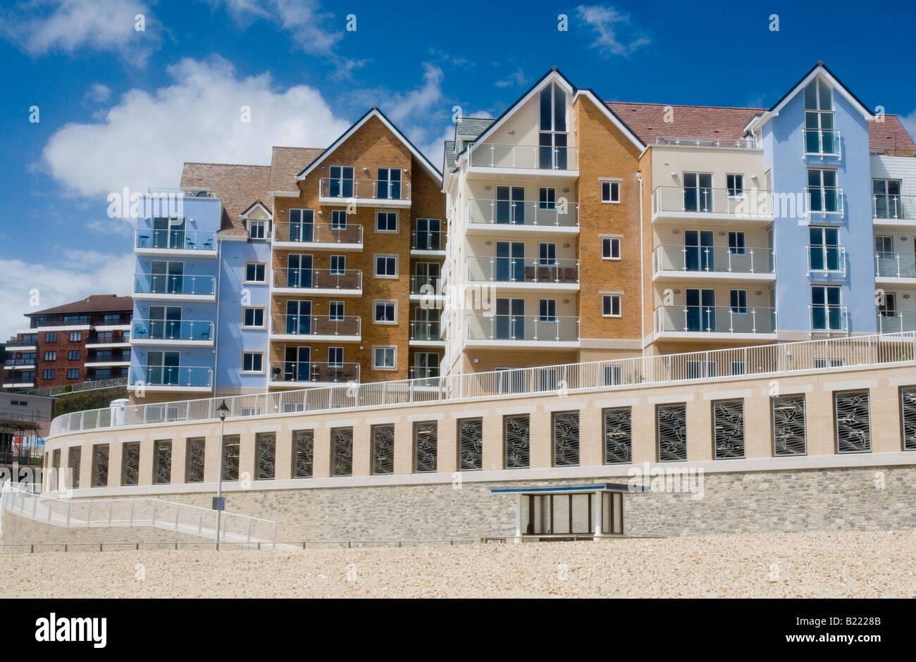 New Housing Development : The new barratt homes development of seafront apartments