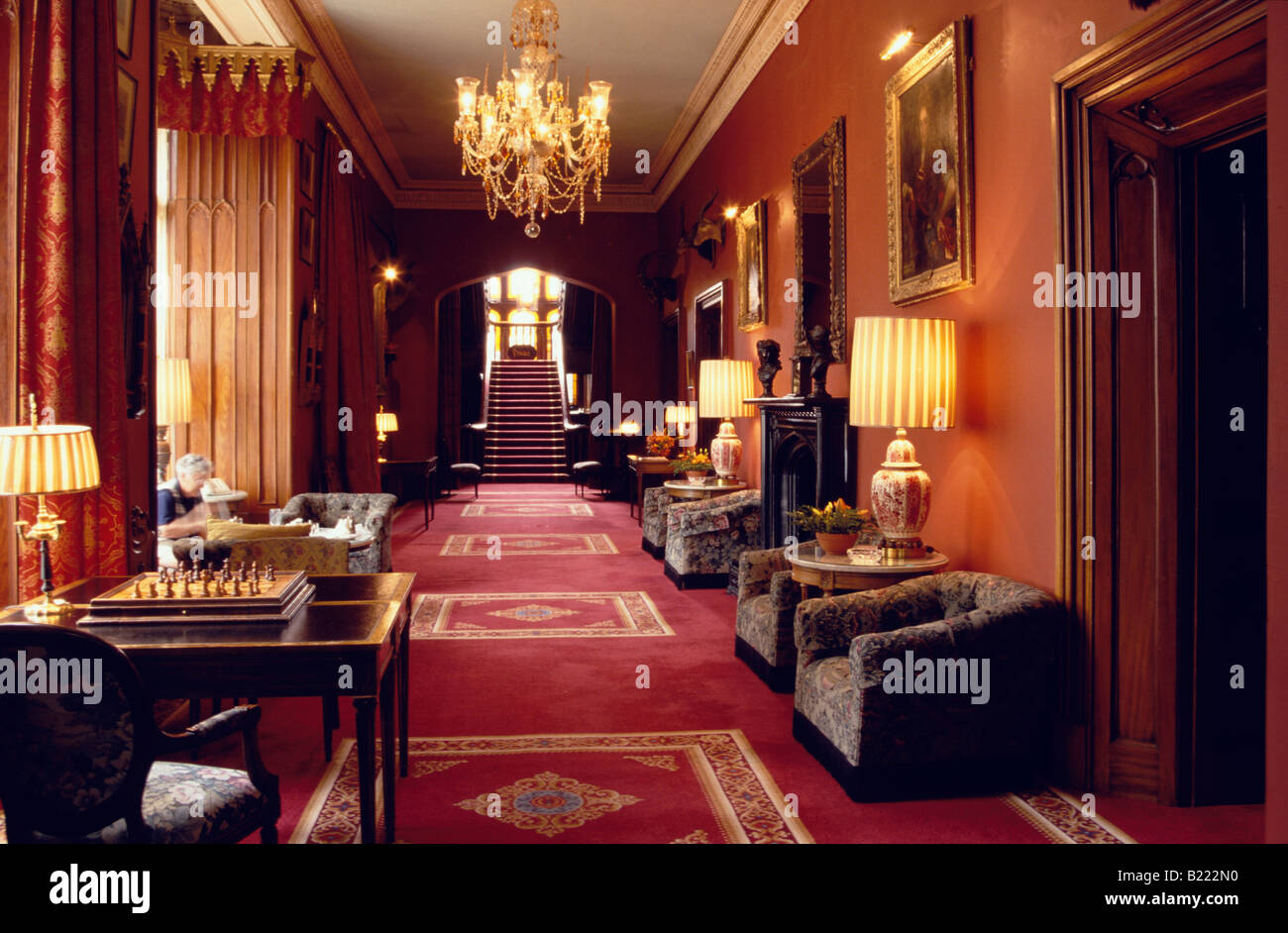 interior view of dromoland castle hotel county clare ireland stock