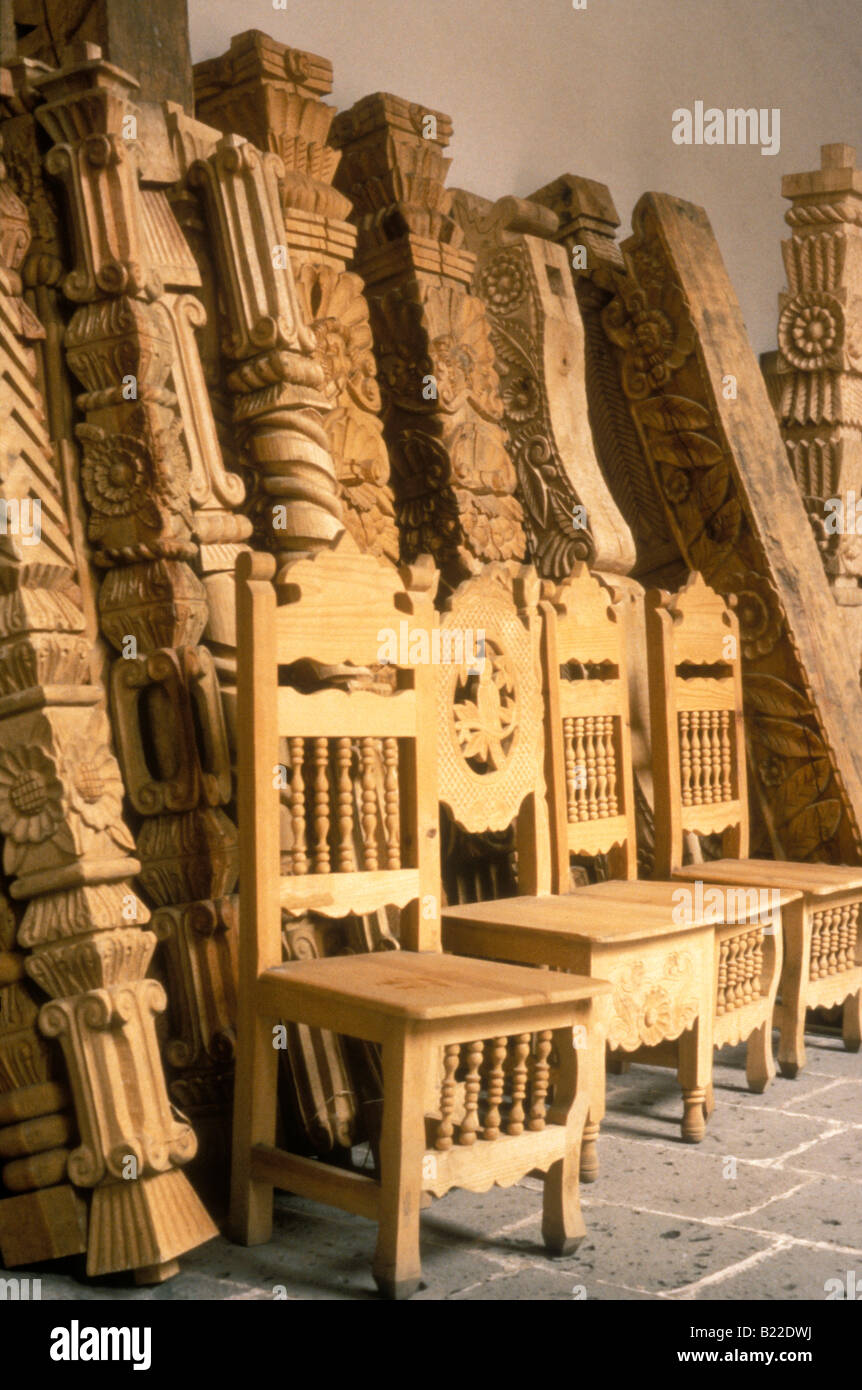 Handmade wooden furniture from michoacan casa de - Artesania en casa ...