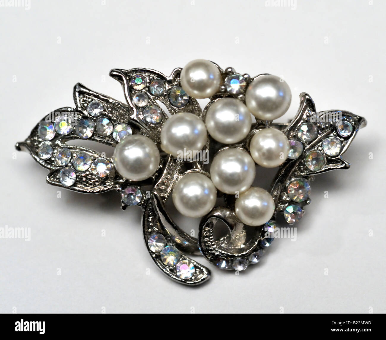 brooch royalty image free a faux photo with pearls stock