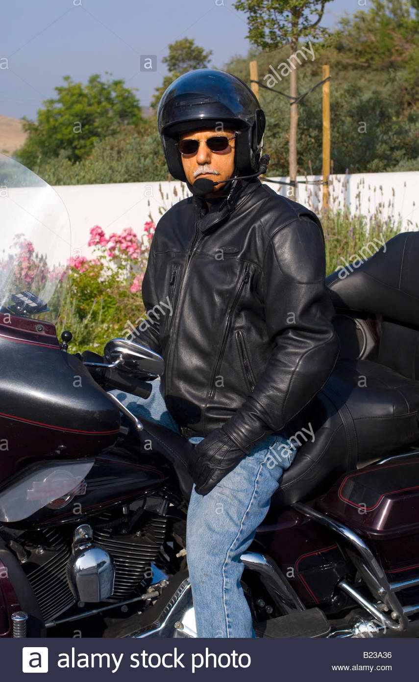 motorcycle rider mature
