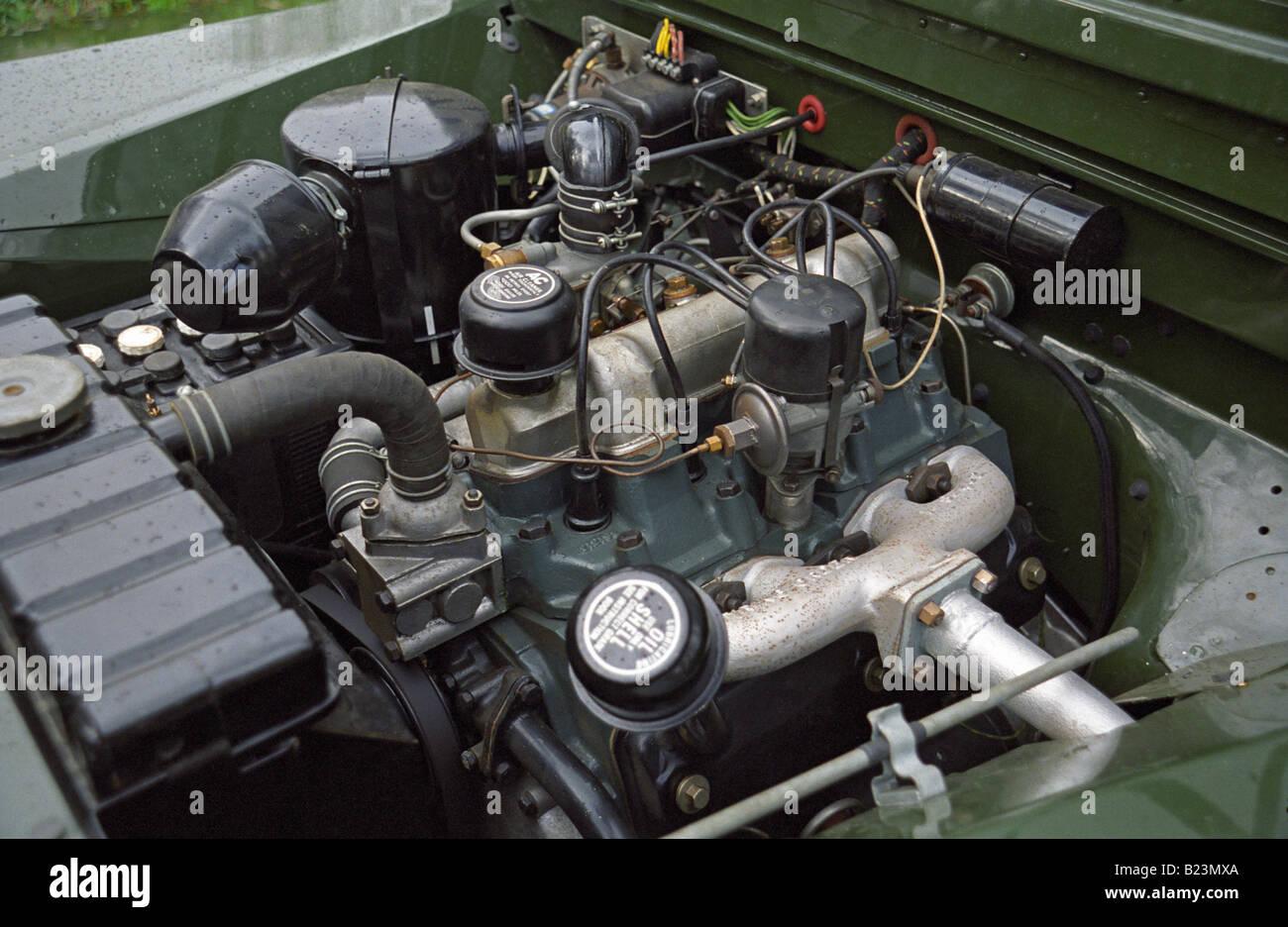 engine bay   perfectly restored  award winning   litre stock photo royalty