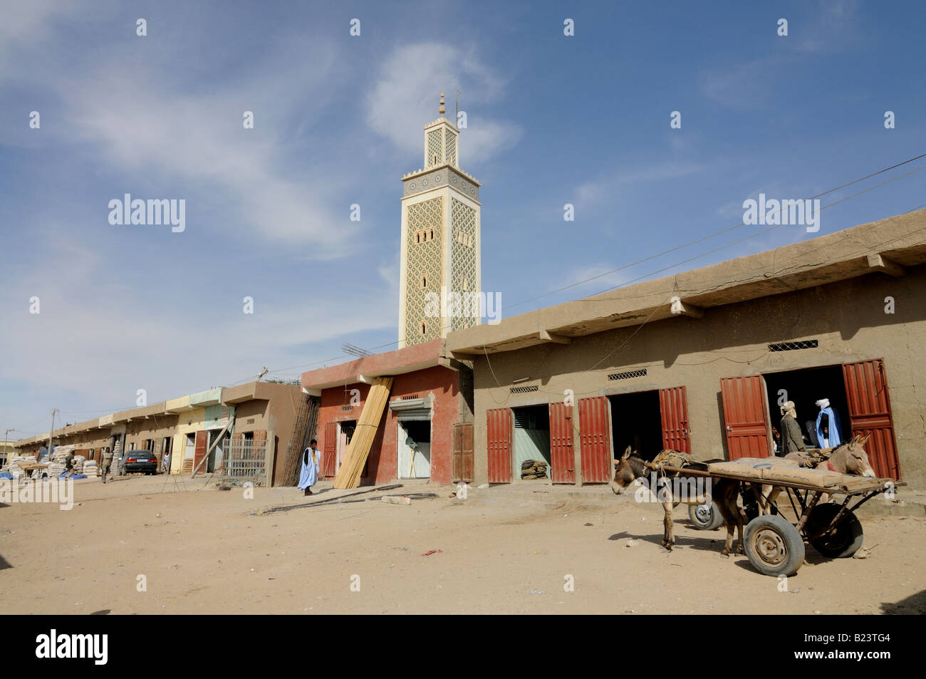 The tent market and the moroccan mosque in Nouakchott Western Africa Mauritania Africa & The tent market and the moroccan mosque in Nouakchott Western ...