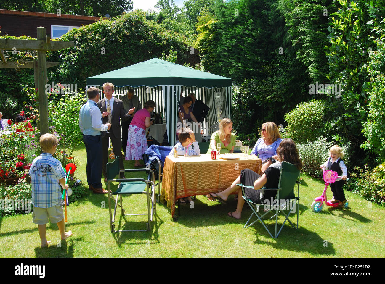 family garden party ascot berkshire england united kingdom