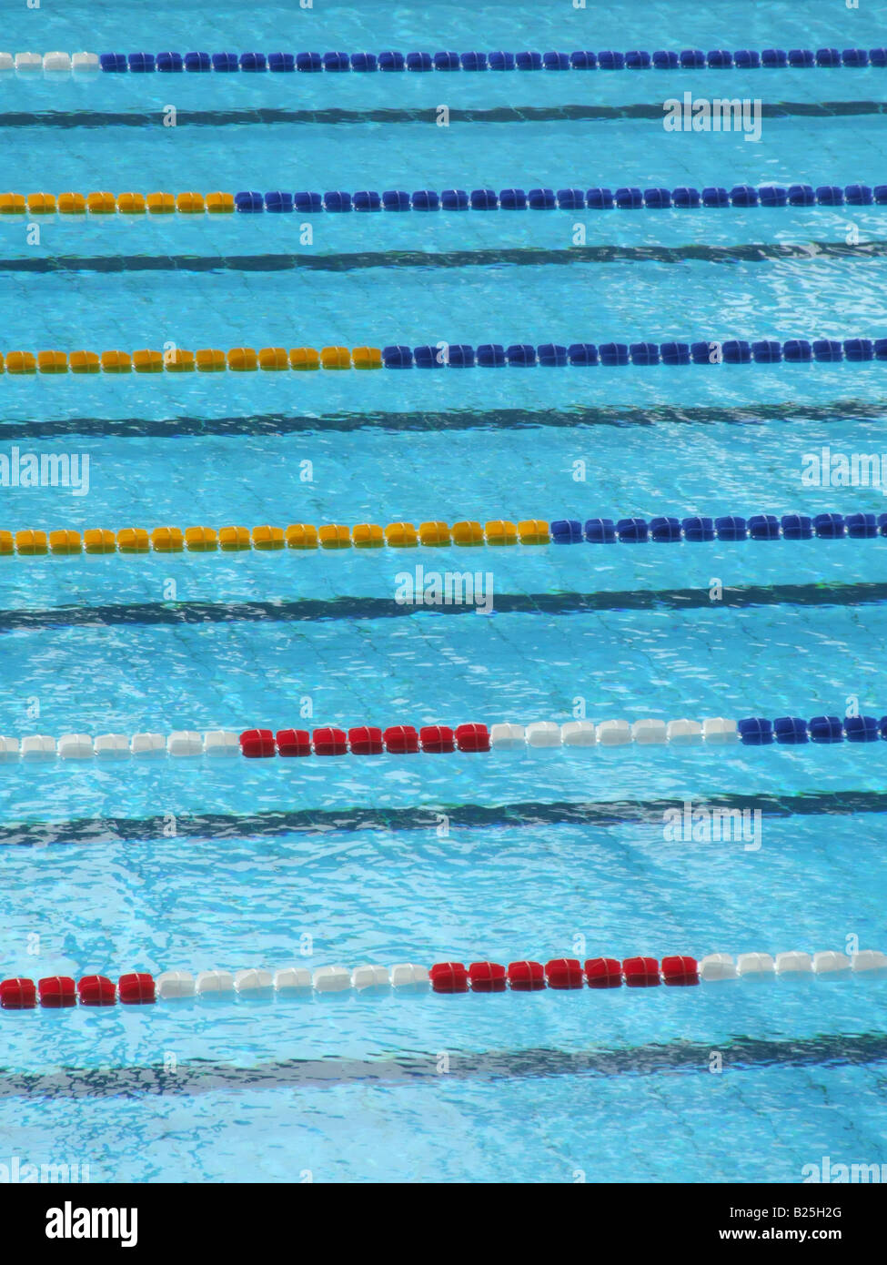 stock photo empty olympic size swimming pool with lanes