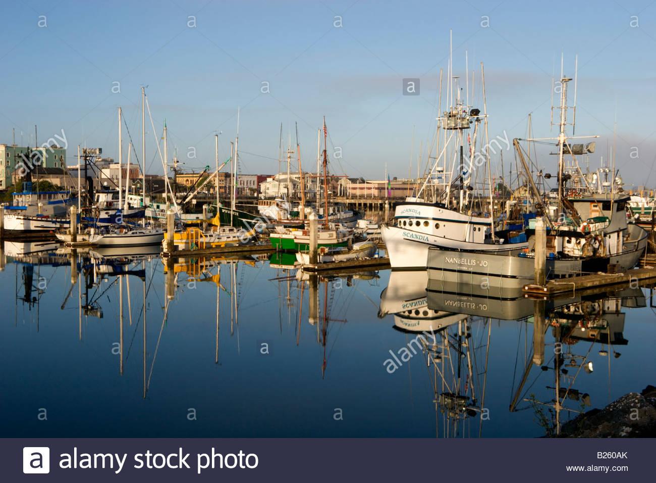 Woodley island marina eureka california stock photo for Eureka ca fishing
