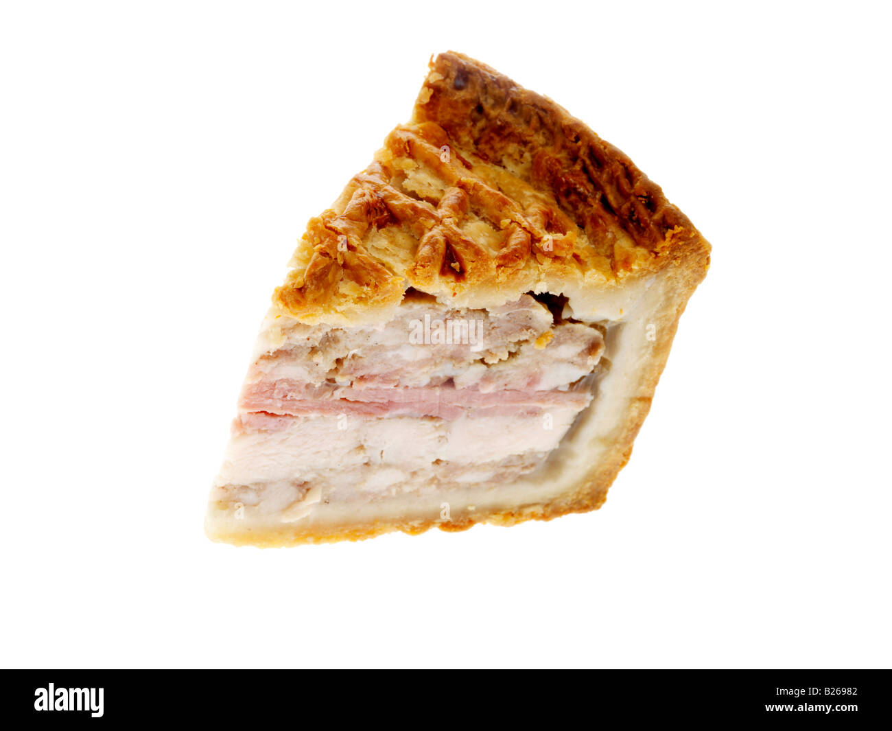 pork chicken and ham pie stock photo royalty free image