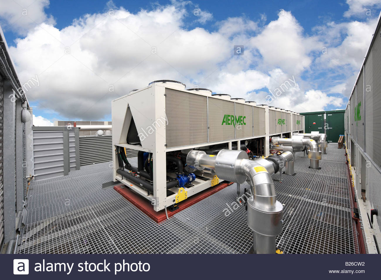 Commercial Ventilation Systems : Rooftop ventilation system of modern commercial data