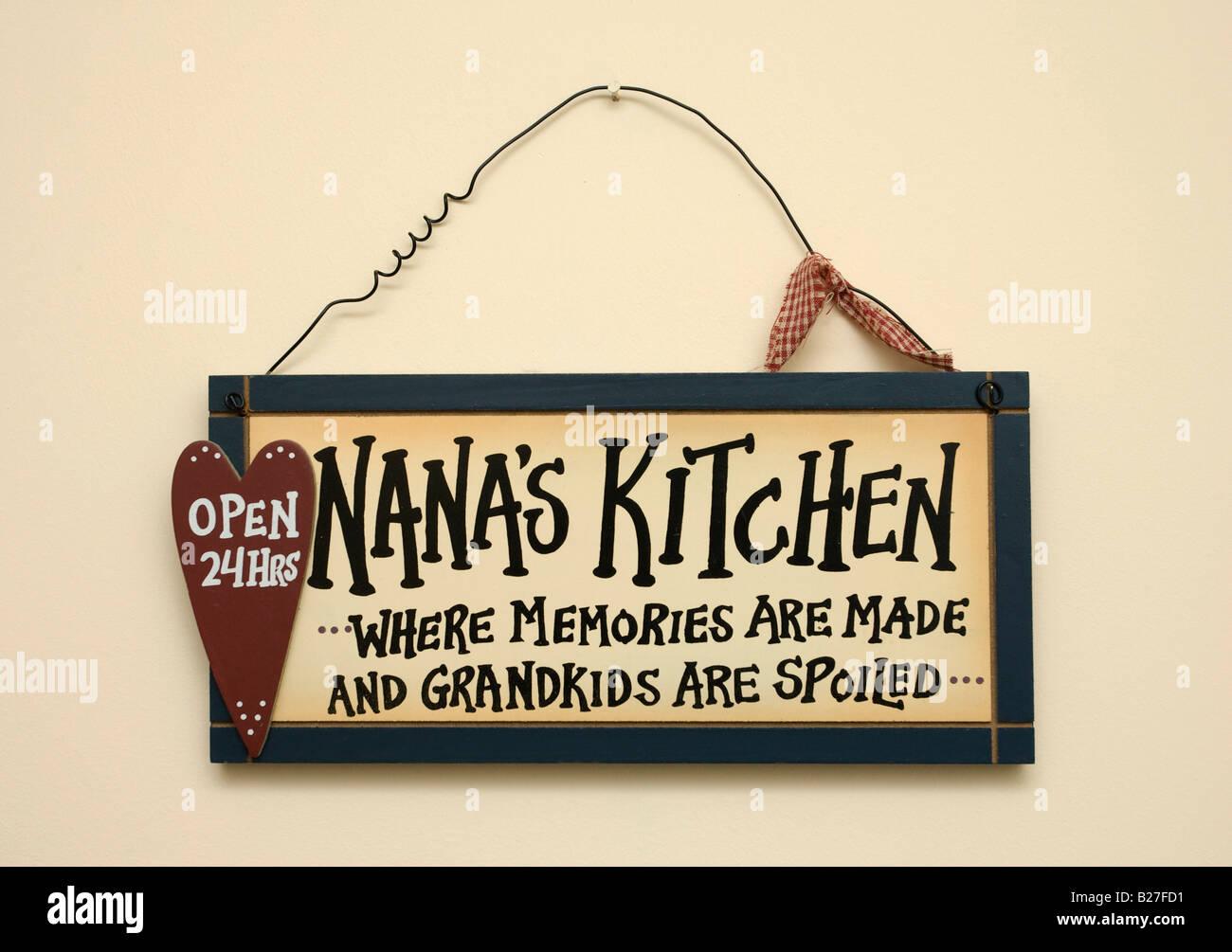 kitchen sign reading \'Nanas Kitchen\' Stock Photo, Royalty Free ...