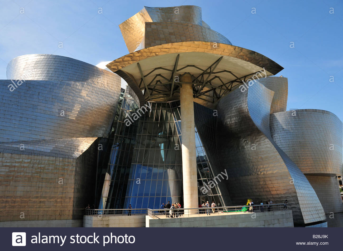 bilbao spain the guggenheim museum of modern the stock photo royalty free image