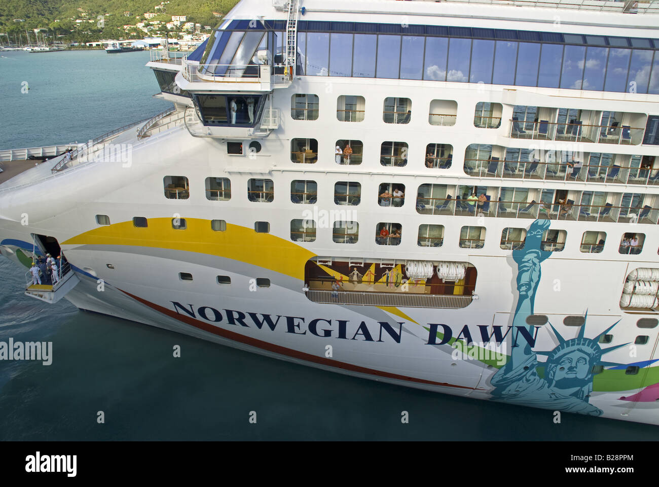 Cruise Ship Norwegian Dawn Of The Norwegian Cruise Line Leaving - Cruise ship dawn