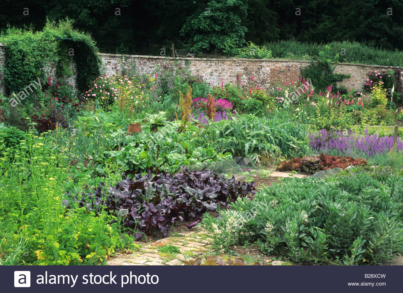 Walled Kitchen Garden Hadspen House Somerset Walled Kitchen Garden With Vegetables And