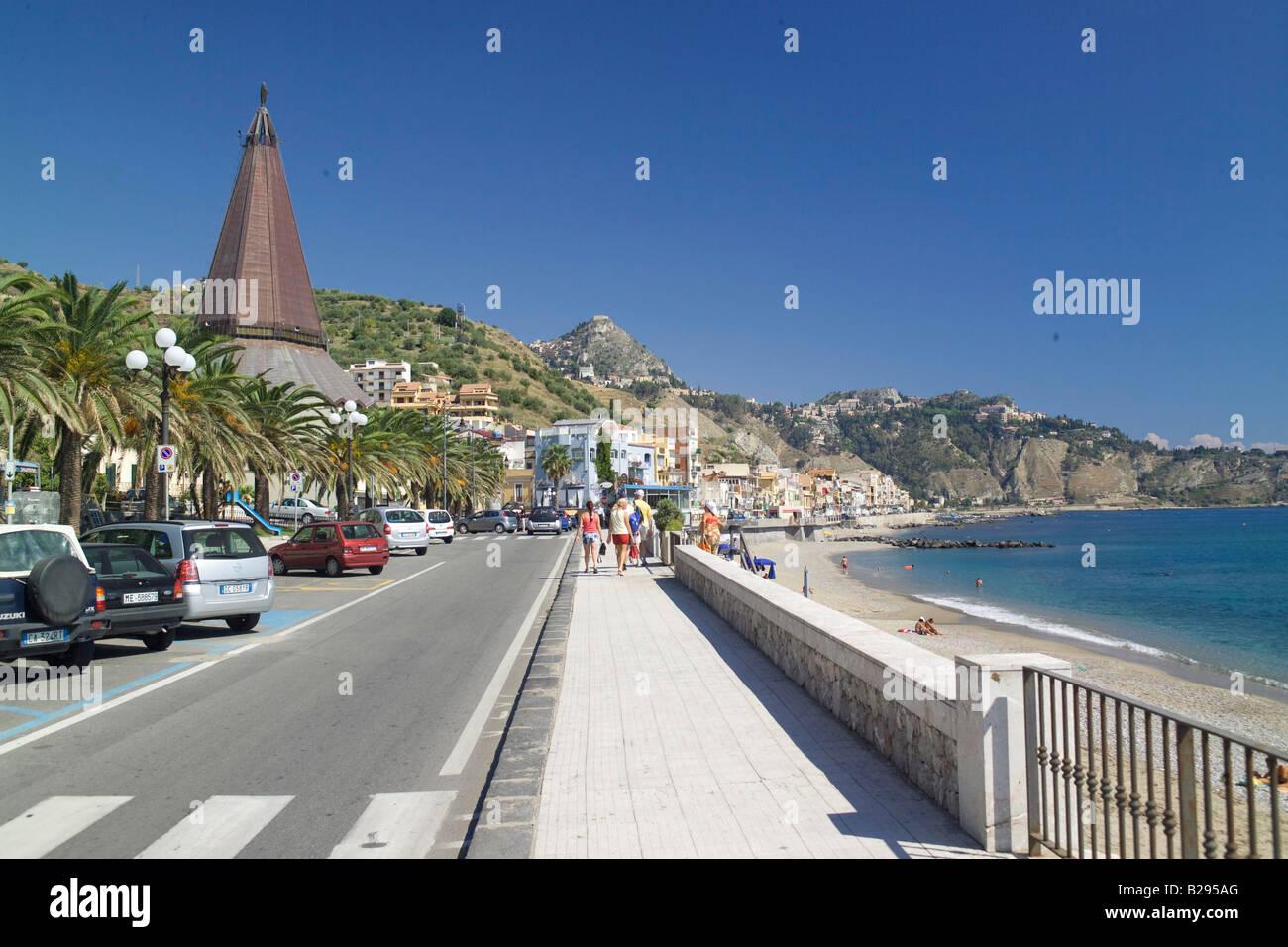 Promenade giardini naxos near taormina sicily stock photo royalty free image 18641464 alamy - B b giardini naxos economici ...