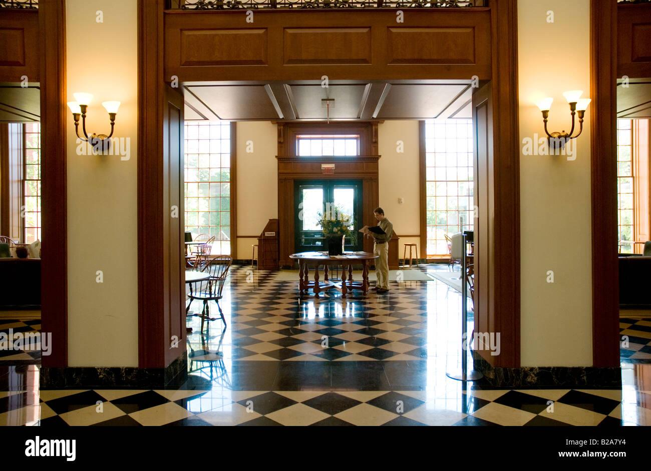Interior Of Baker Library Harvard Business School Boston MA