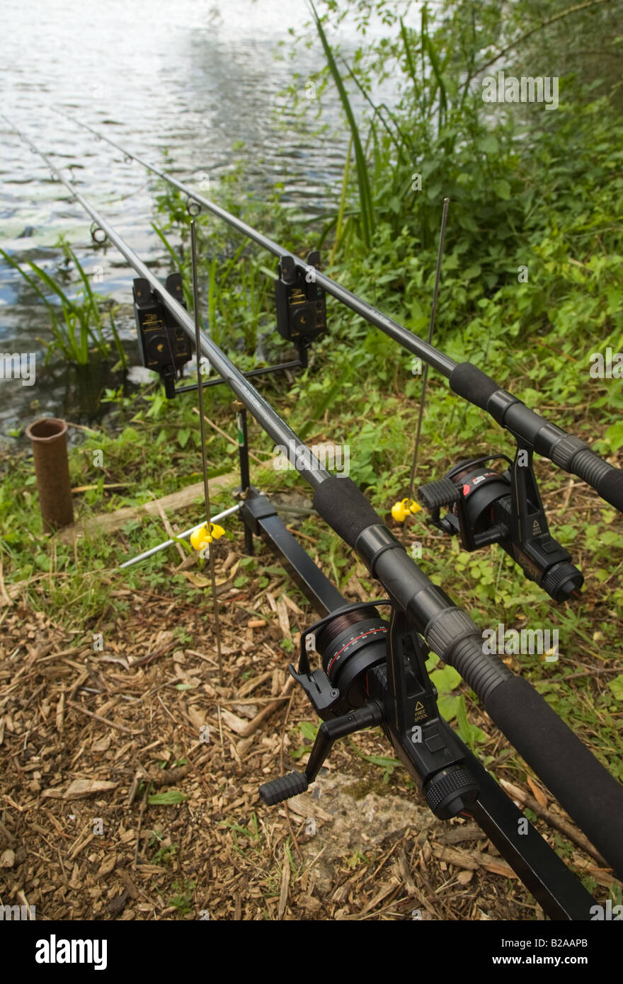 Fishing rods and reels set up with electronic bite alarms for How to set up a fishing rod