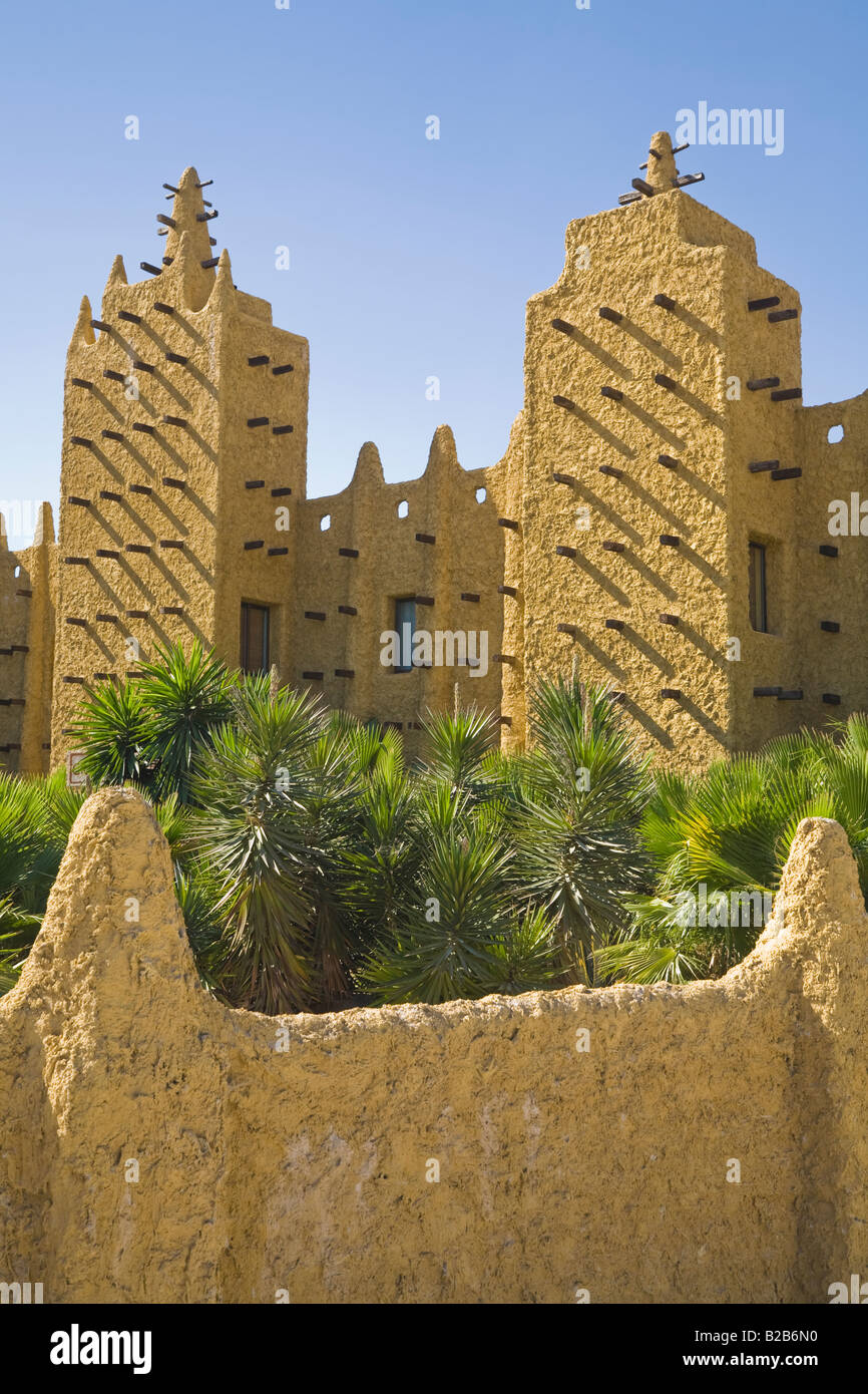 west african adobe architecture style at crocodile park