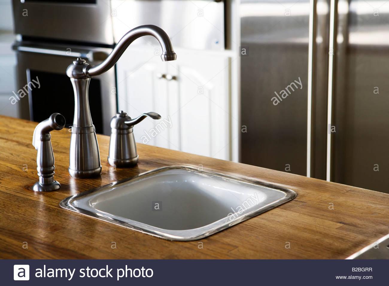 stock photo chrome kitchen sink faucet kitchen sink faucet Chrome Kitchen Sink Faucet