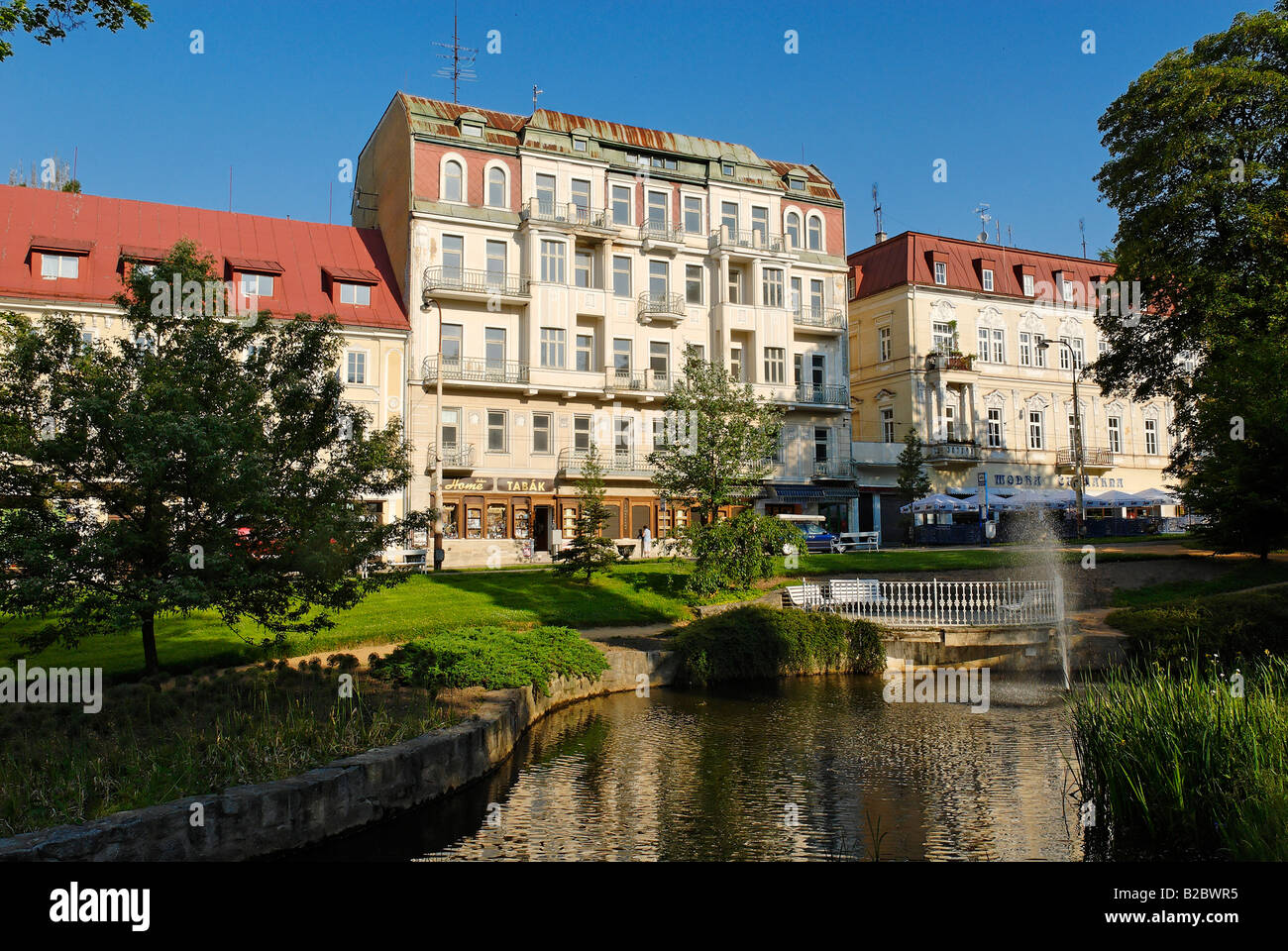 Historic hotels in the spa of mariánské lázně or marienbad bohemia the czech republic europe