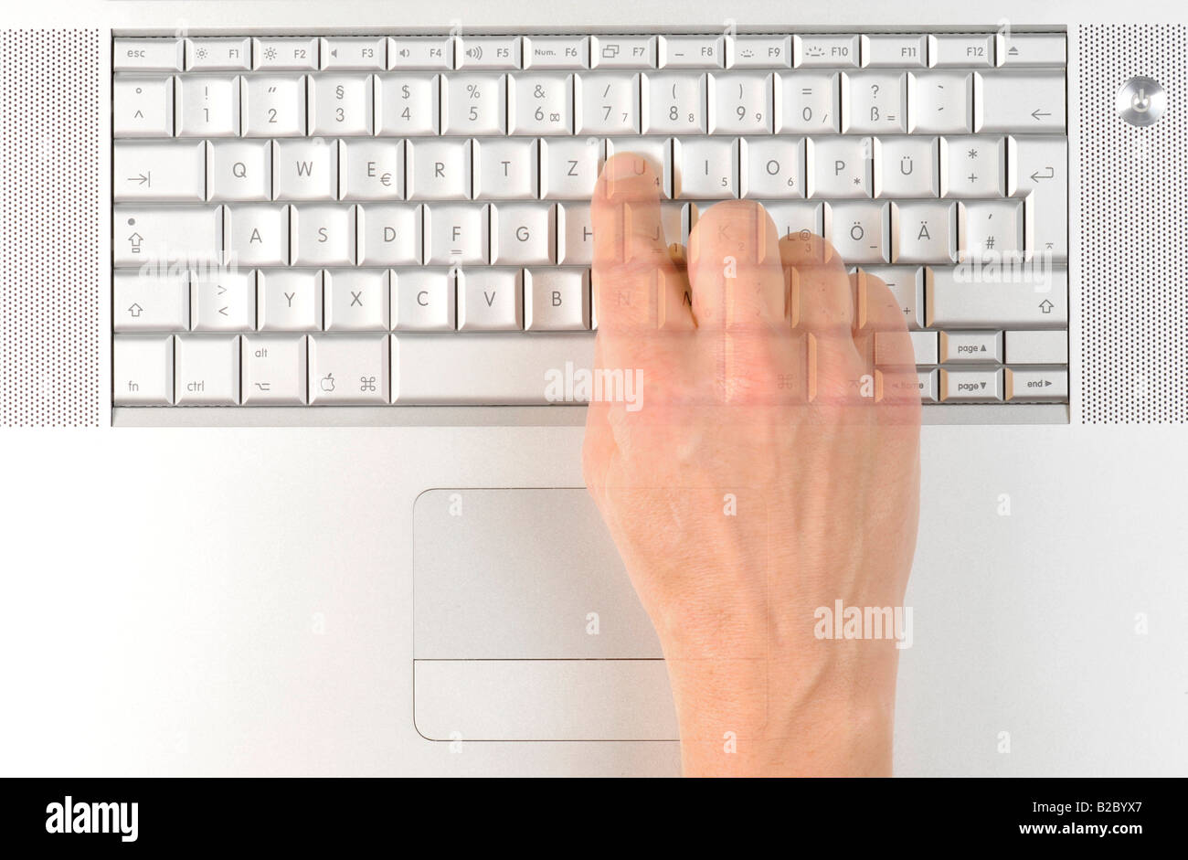Apple macbook pro keyboard hand typing stock photo 18703055 alamy apple macbook pro keyboard hand typing biocorpaavc Images