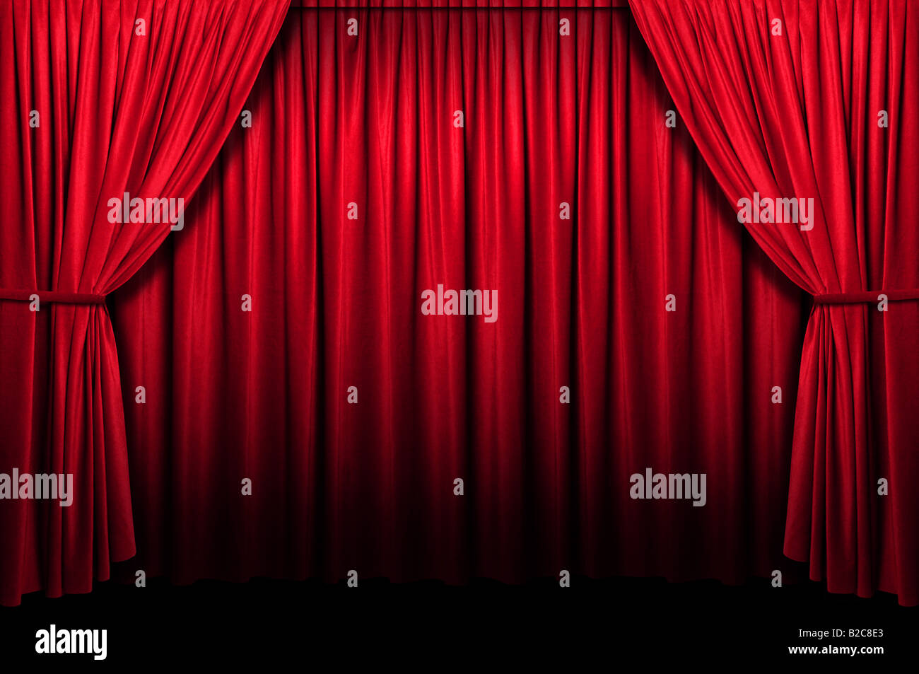 Red stage curtain with lights - Red Stage Curtain With Light And Shadow