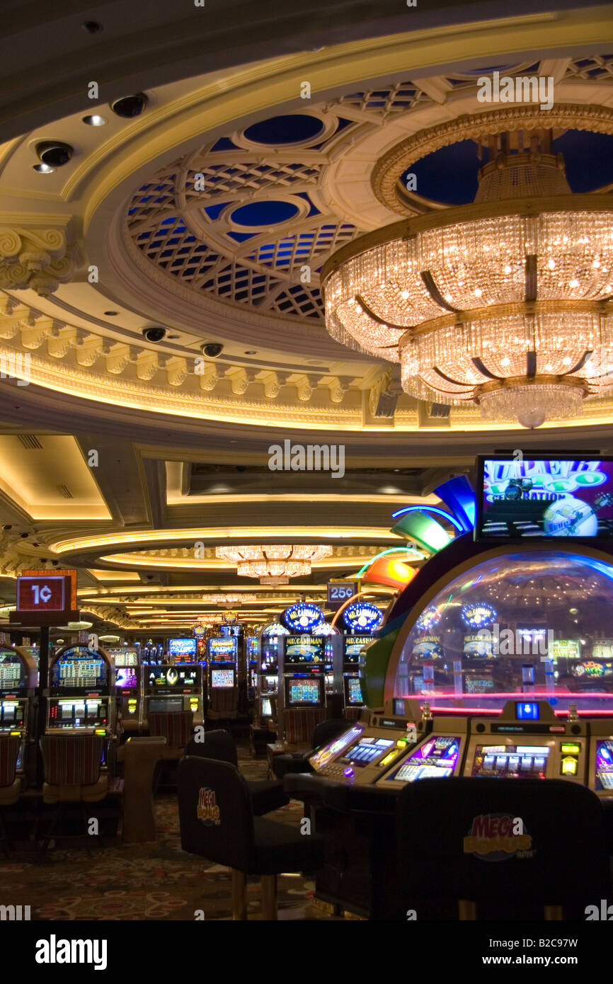 Slot Machines Inside The Monte Carlo Casino In Las Vegas Nevada Stock Photo Royalty Free Image