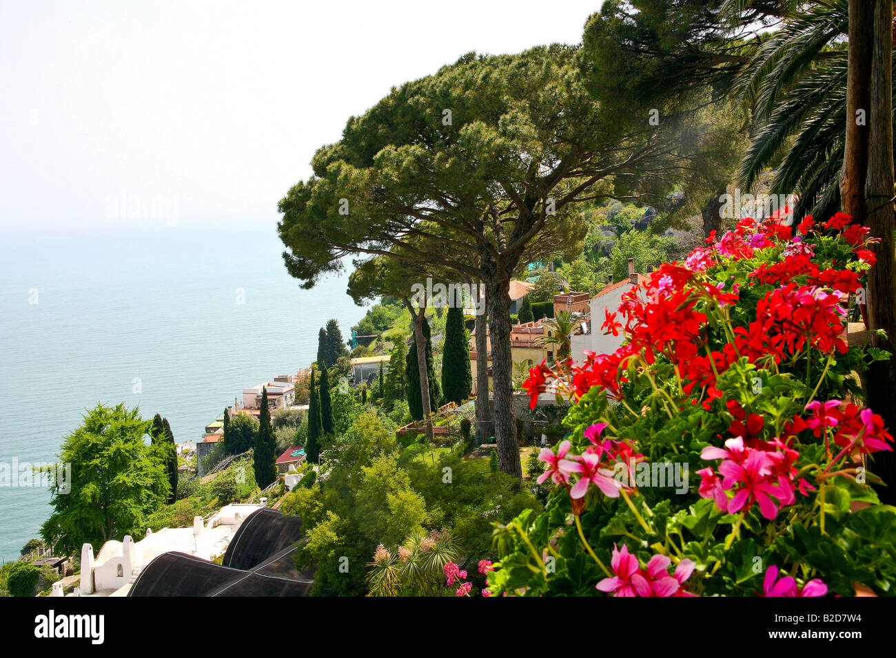 View From The Gardens Of Villa Rufolo Ravello Amalfi
