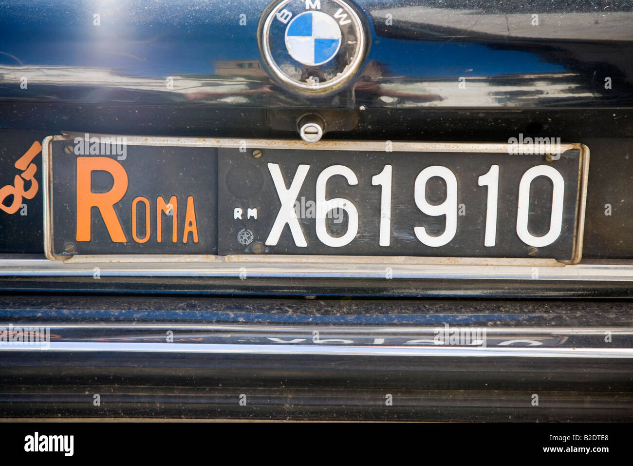 Old Roma car licence plate Rome Lazio Italy Stock Photo, Royalty ...