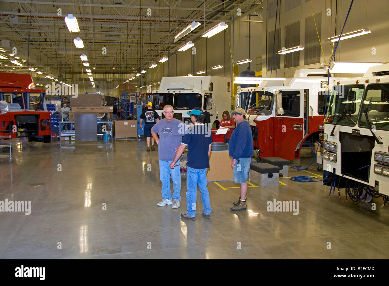 fire truck chassis manufacturing at spartan motors in