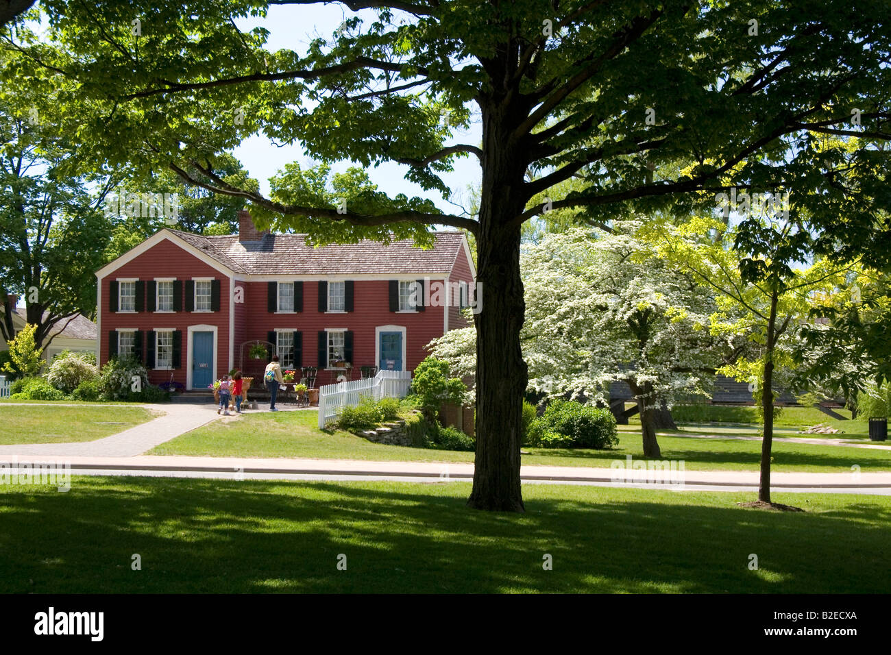 luther burbank birthplace in greenfield village at the henry ford in dearborn michigan stock photo