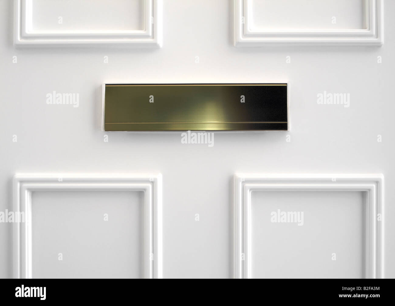 Brass letter box on the inside of white paneled upvc front door & Brass letter box on the inside of white paneled upvc front door ... Pezcame.Com