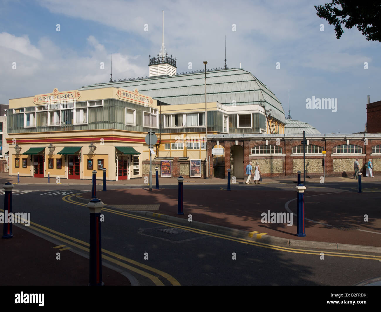 Entrance to the Winter Garden Complex at Eastbourne Stock Photo ...