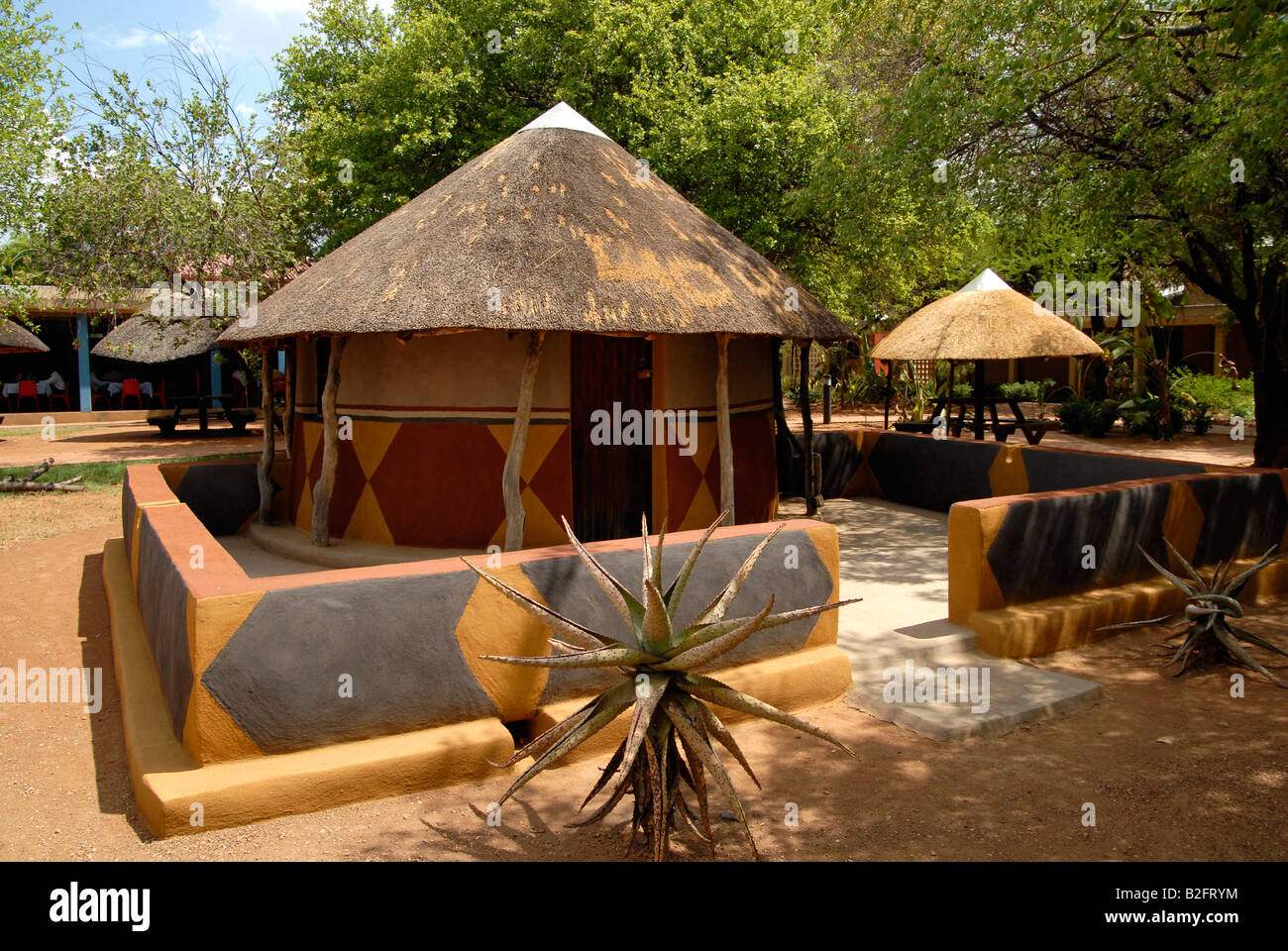 Traditional Village Round Mud Houses Recreated In Gaborone
